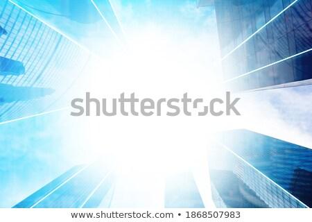 Au-dessous vue murs fenêtres élevé contemporain Photo stock © pressmaster