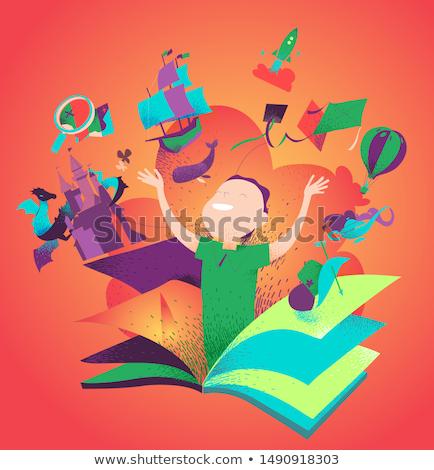 Surfing school concept vector illustration. Stock photo © RAStudio