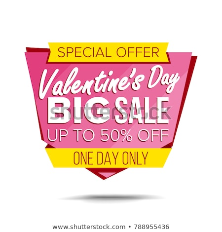 Promotional Poster, Best Discount on February Sale Stock photo © robuart