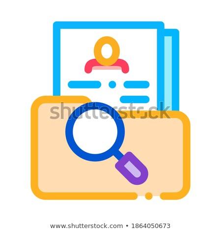 Naukowy badania osobowych ludzi zasób ikona Zdjęcia stock © pikepicture