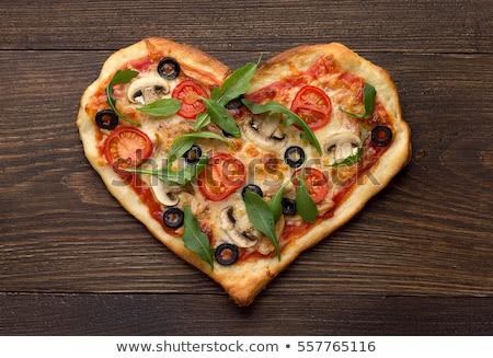 Italian pizza with tomato, mozzarella and chicken Stock photo © furmanphoto