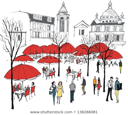 Dining Place in France, French Cafe, City Vector Stock photo © robuart