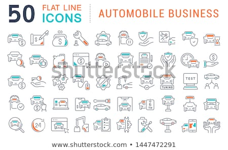 Car Dealership Shop Collection Icons Set Vector Stock photo © pikepicture