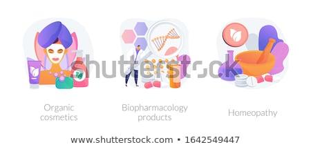 Organique produits vecteur métaphores soins de la peau santé Photo stock © RAStudio