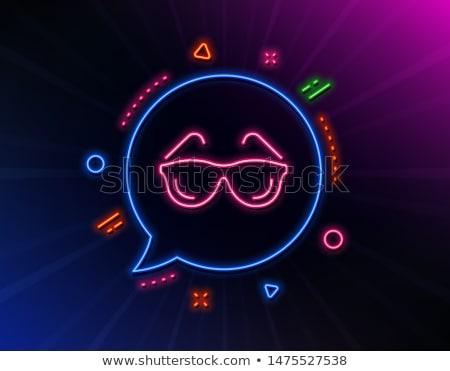 Göz vizyon neon meditasyon tanıtım iş Stok fotoğraf © Anna_leni