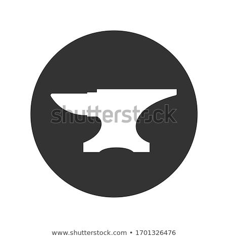 Fer enclume lourd isolé blanche Photo stock © albund