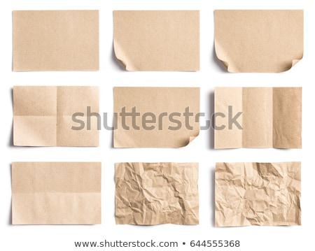 Ráncos darabok papírok brossúrák prezentációk textúra Stock fotó © dvarg