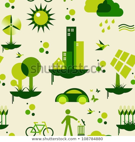 Ecology and Renewable Energy Icons // Fresh Colors Stock photo © Palsur
