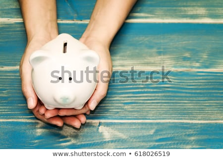 Keramische spaarvarken besparing geld 3d illustration roze Stockfoto © montego