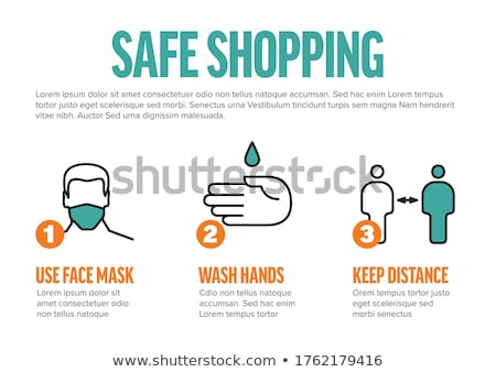 Safe shopping instructions - horizontal infographic template Stock photo © orson