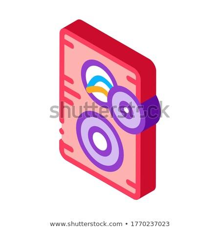 Gebroken dynamisch isometrische icon vector teken Stockfoto © pikepicture