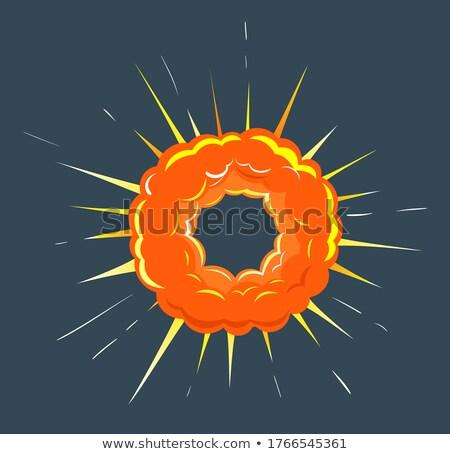Explosie ruimte heldere knal oranje Stockfoto © robuart