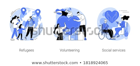 Refugees family vector concept metaphor Stock photo © RAStudio