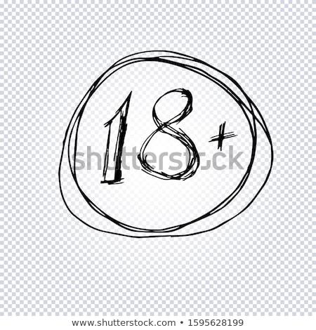 abstract 18 plus warning Stock photo © pathakdesigner