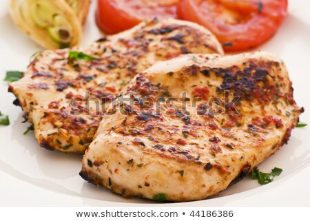 Turkey hen schnitzel Stock photo © ChrisJung