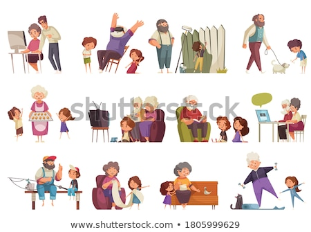 grandma painting with grandchildren stock photo © photography33