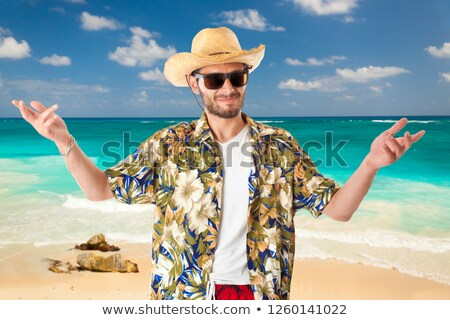 young male smiling tropical setting Stock photo © 808isgreat