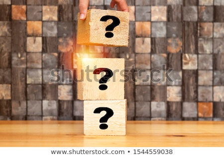 man marking a piece of wood stock photo © photography33