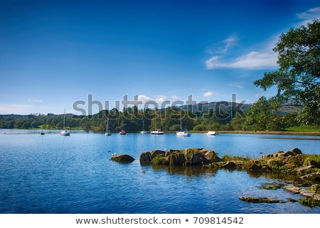 Lac lake district Angleterre photographie extérieur idyllique Photo stock © chris2766