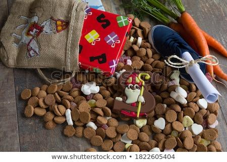 チョコレート · 手紙 · オランダ語 · パーティ · イベント - ストックフォト © ivonnewierink