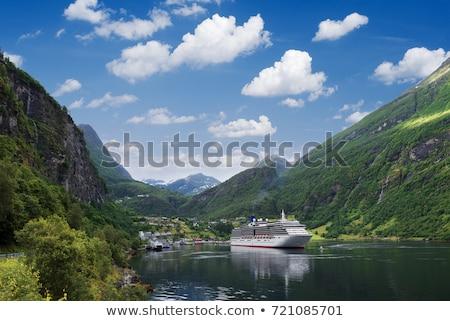 Cruise in Norwegian sea Stock photo © Harlekino