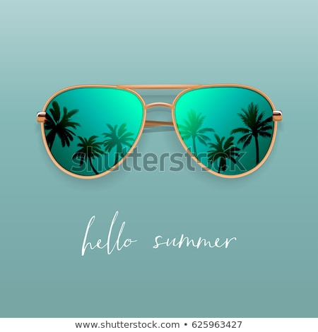 Mirrored aviator sunglasses isolated on white Stock photo © ozaiachin