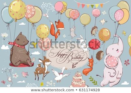 животного Cartoon шаре небе любви счастливым Сток-фото © dagadu