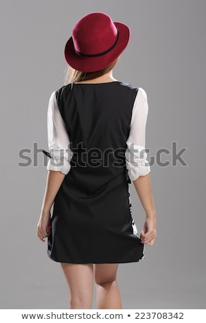 portret · retro · kobieta · vintage · sukienka - zdjęcia stock © carlodapino