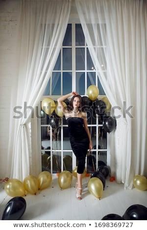 Nő szépség hosszú barna haj pózol stúdió Stock fotó © Victoria_Andreas
