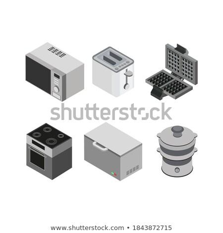 Eléctrica digital estufa cocina aislado vidrio Foto stock © JohnKasawa