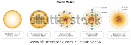 átomo modelo 3D realista vetor ícone Foto stock © -TAlex-