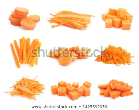 свежие · зрелый · морковь · изолированный · белый · продовольствие - Сток-фото © karandaev