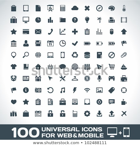Universal set of icons for web and mobile. Stock photo © borysshevchuk