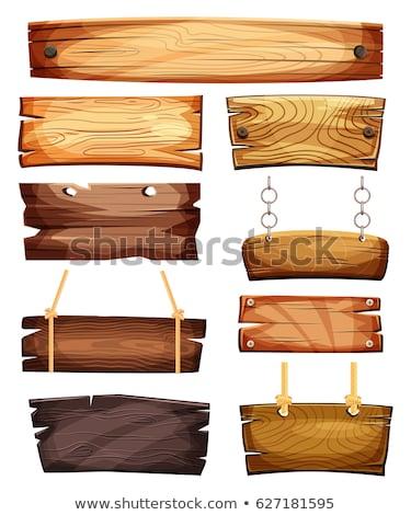 Fa fogkő fal fa építkezés természet Stock fotó © inxti