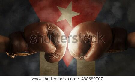 Cuba boxeo amateur boxeador uniforme posando Foto stock © sahua