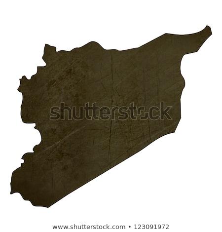 Dark silhouetted map of Sri Lanka stock photo © speedfighter