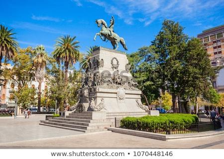 Buenos Aires emelkedő mögött fa építészet park Stock fotó © jkraft5