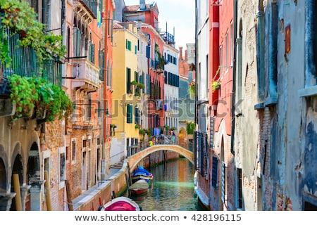 Gondola piccolo canale Venezia Italia tradizionale Foto d'archivio © rglinsky77