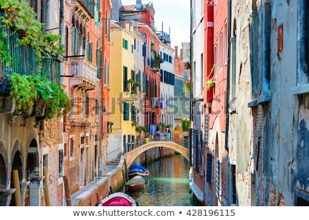 Gôndola pequeno canal Veneza Itália tradicional Foto stock © rglinsky77