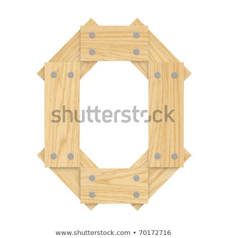 O betű fa tábla fal fény otthon Stock fotó © pinkblue