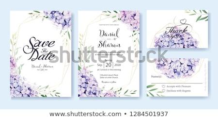 purple flowers at wedding stock photo © kmwphotography