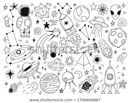 maan · ruimte · exploratie · pop · art · retro - stockfoto © curvabezier