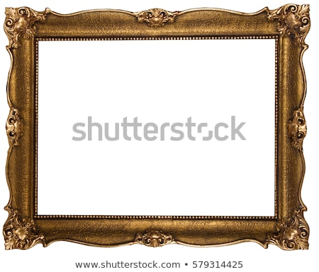 Houten frame schilderij geïsoleerd witte achtergrond portret Stockfoto © luckyraccoon