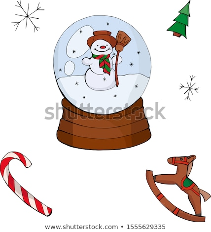 снега · мира · фон · игрушку - Сток-фото © arenacreative