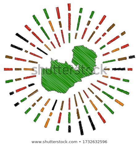 флаг Замбия стороны цвета стране стиль Сток-фото © claudiodivizia