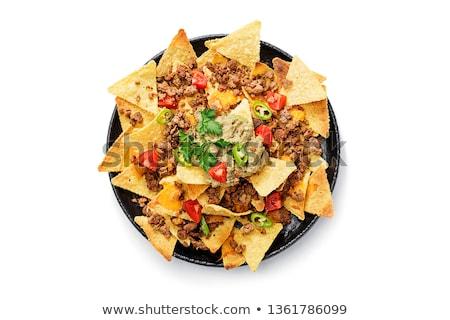 Начо пластина обеда оливкового мексиканских еды Сток-фото © M-studio