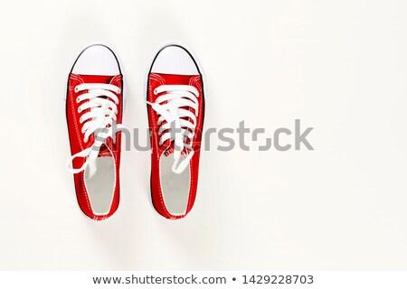 primer · plano · lienzo · zapato · moda · diseno · estudio - foto stock © zhekos