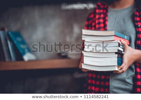 sveglia · libri · isolato · bianco · libro · clock - foto d'archivio © elnur