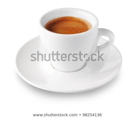 Eszpresszó fehér füst ital tányér reggeli Stock fotó © oly5