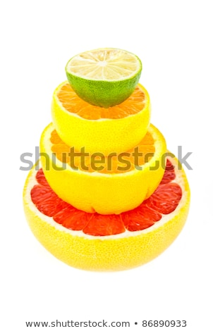 Stock photo: Vitamin C Overload, Stacks of sliced fruit